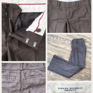 Banana Republic Martin Fit Brown Wool Blend pants